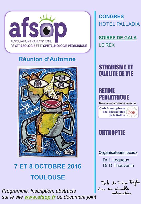 Toulouse 2016 : Qualité de vie et strabisme – Pathologies rétiniennes de l'enfant